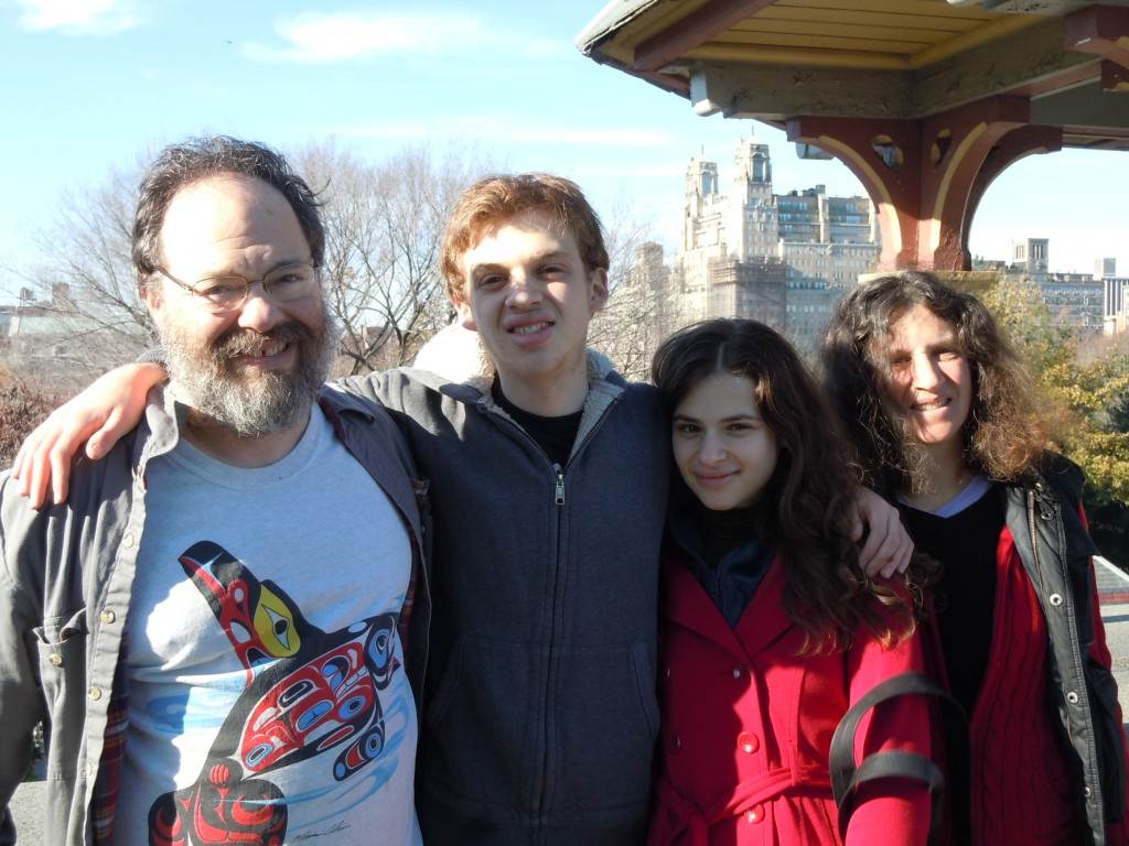 From left: Shel, Rafael, Alana, Dina (Central Park,11/11)
