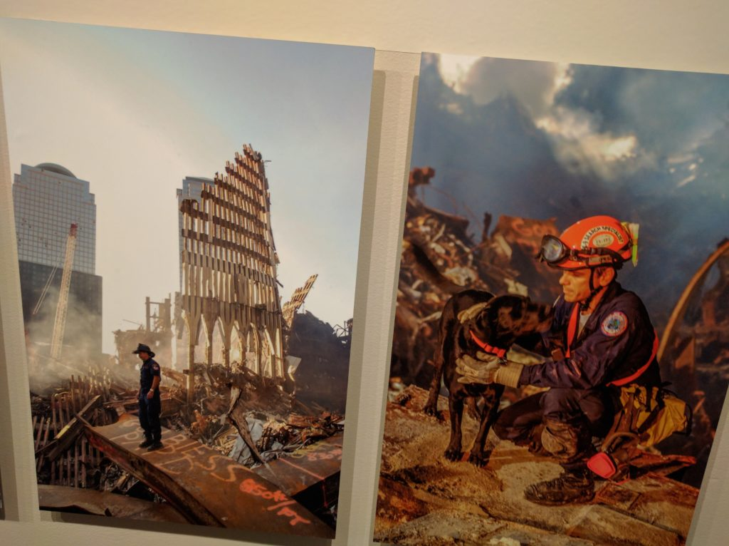 Rescue workers at Ground Zero after 9/11. Photos by Andrea Booher.